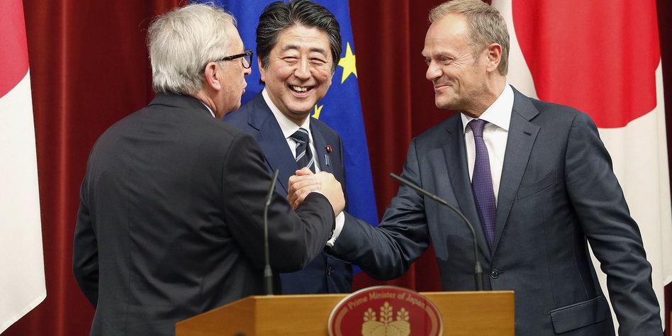 EU und Japan besiegeln Handelspakt - Zeichen für offene Märkte