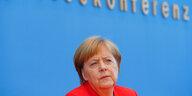 """Pressekonferenz von Angela Merkel: """"Die Tonalität war oft sehr schroff"""""""