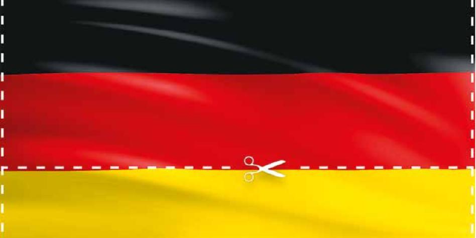 Strafe Für Flaggen Kürzung Deutschland Unten Ohne Tazde