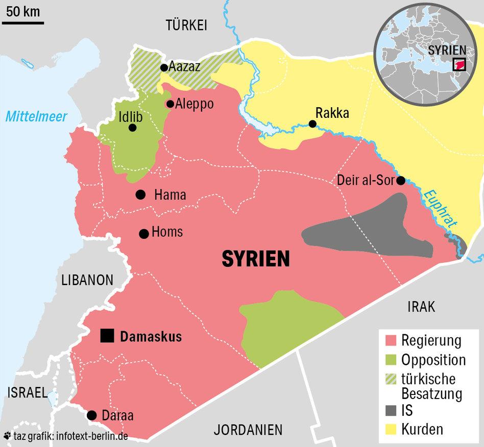 Syrien Karte Mit Städten.Krieg In Syrien Keine Ruhe Kein Frieden Taz De