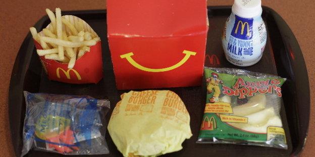 San francisco gegen fast food ketten spielzeug in happy
