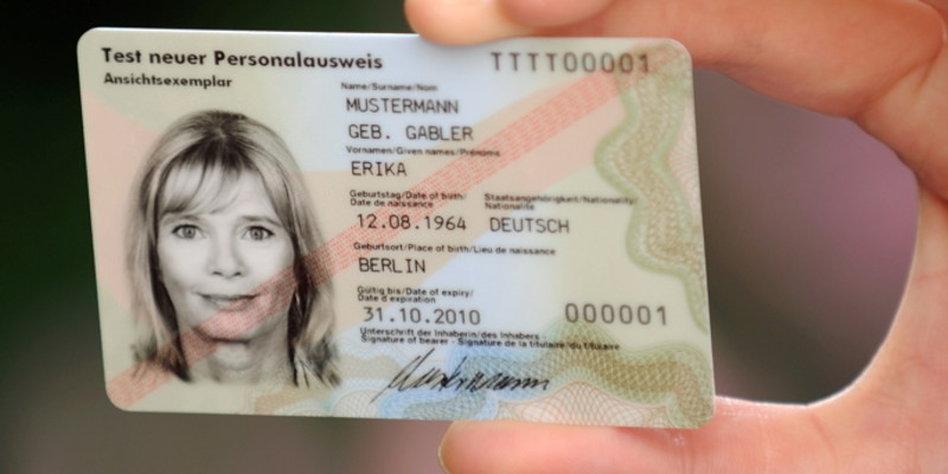 Personalausweis Fingerabdrücke