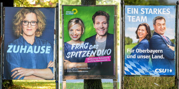 Wahlplakate in Bayern