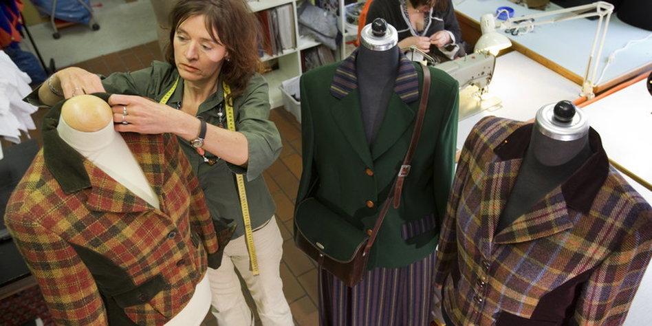 Schottische Tweed Produktion Heisse Ware Taz De