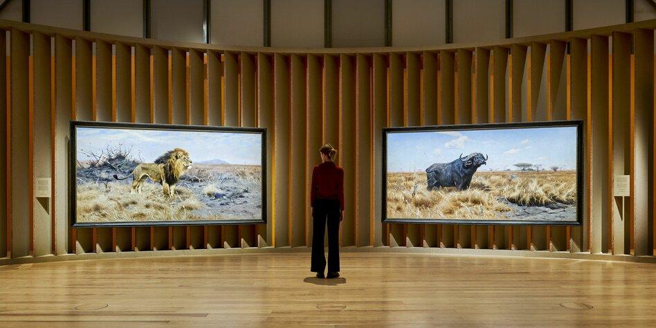 Ausstellung Zu Kolonialismus Schöne Löwen Statt Kontext Tazde