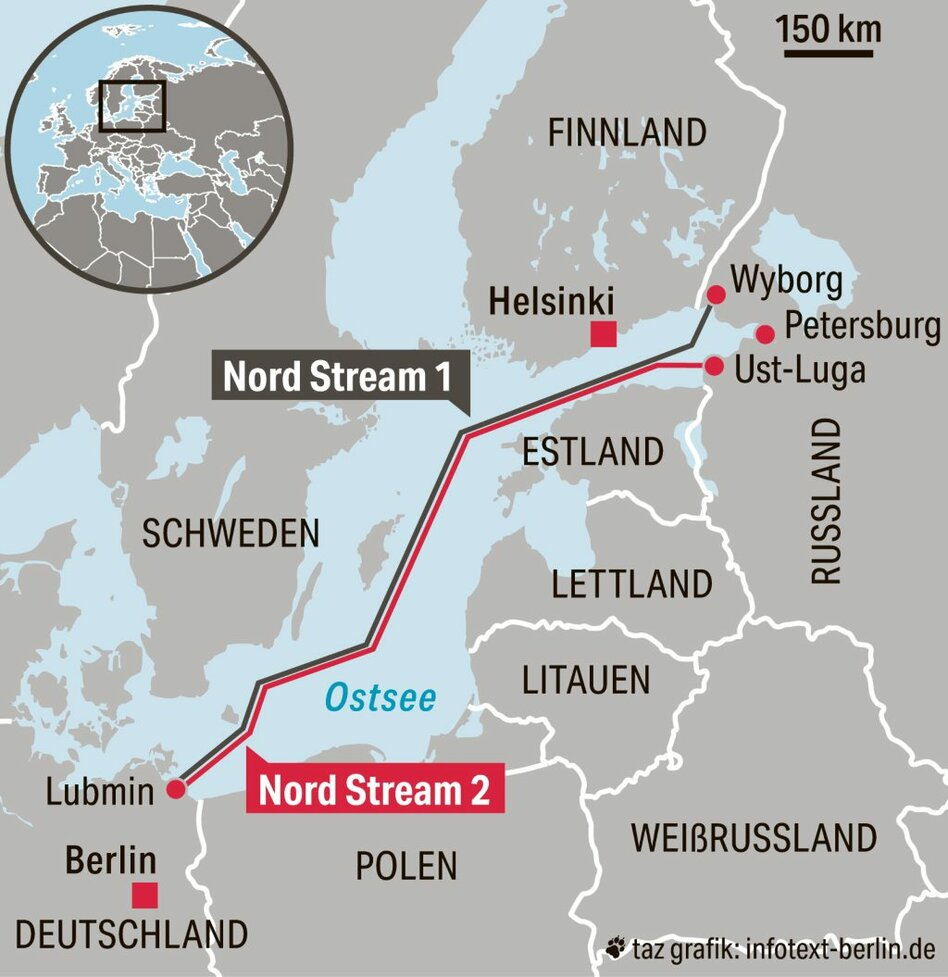 Nord Stream 2 Karte.Nord Stream 2 In Bau Fur Die Ostsee Ein Strang Taz De