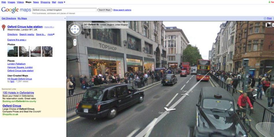 Geschaftsmodell Fur Street View Kommerz In 3d Taz De