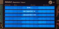 Warnstreik bei der Deutschen Bahn: Bundesweit gibt's Stillstand