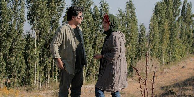 Jafar Panahi mit Schauspielerin Behnaz Jafari