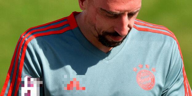Franck Ribéry auf einem Fußballfeld