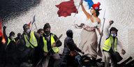 Protestieren in Frankreich: Gelbe Weste als Risiko