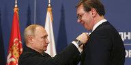 """Russischer Präsident in Serbien: """"Putin, wir lieben dich"""""""