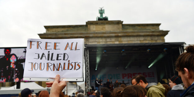 Demo am 03.05.2017 in Berlin für Journalisten in Haft