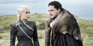 "Daenerys Targaryen (Emilia Clark) und Jon Snow (Kit Harington) in der 7. Staffel von ""Game of Thrones"""