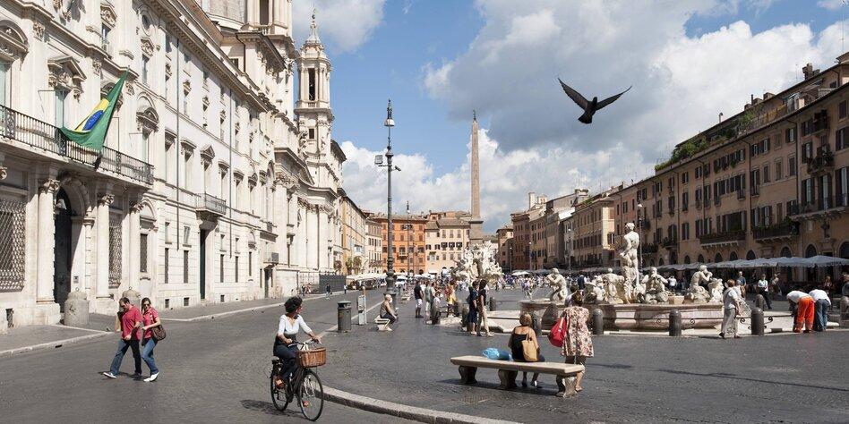 Radeln In Rom Dem Verkehrschaos Abgetrotzt Taz De