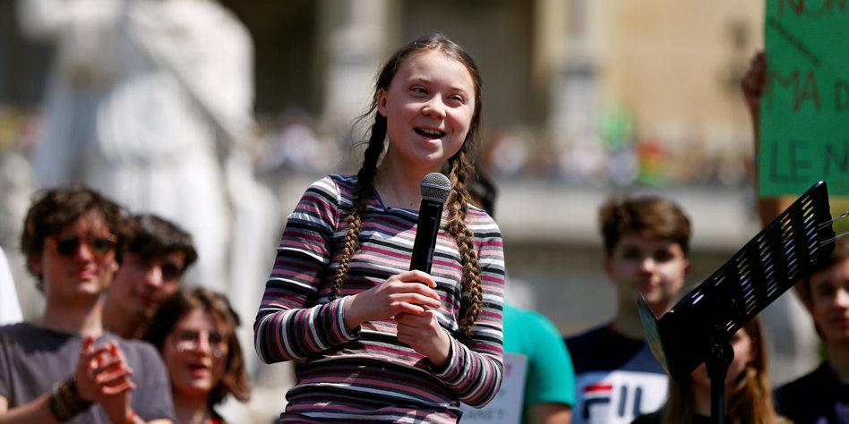 Greta Thunberg sagt Ciao