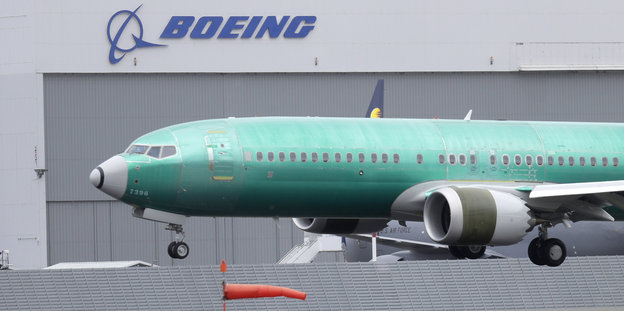 Boeing 737 Max beim Anflug in Seattle