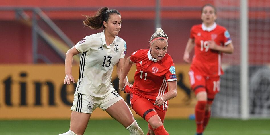 Russische Fussballerinnen Randigster Randsport Russlands