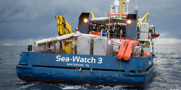 Die Sea-Watch-3 auf See