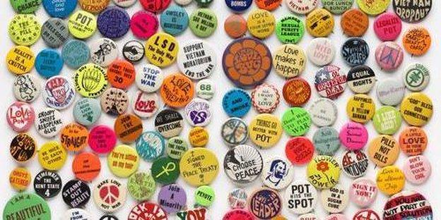 Sammlung von Buttons, ca. 1967