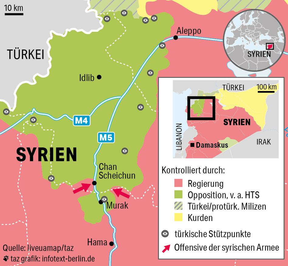 Syrien Karte Aktuell 2018.Rebellenprovinz Idlib Erdogans Eiertanz In Syrien Taz De