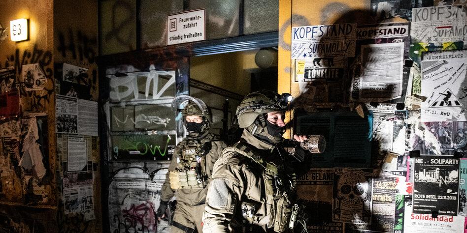 Rigaer wieder im Polizei-Fokus