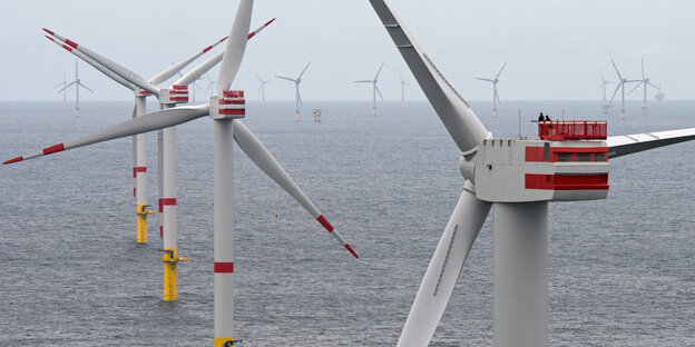 Der Offshore-Windpark von Senvion in der Nordsee