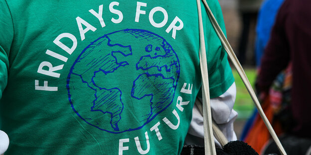 T-Shirt mit dem Logo von Fridays For Future