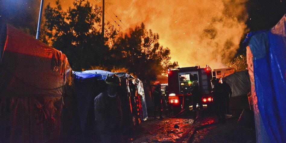 Wieder Brand in Flüchtlingslager