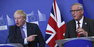 Boris Johnson und Jean-Claude Juncker