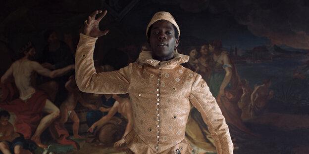 Szene aus dem Film, Angelo macht eine künstlerische Geste