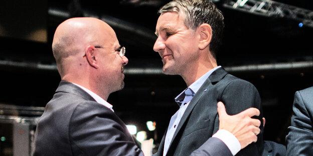 Die AfD-Politiker Höcke und Kalbitz