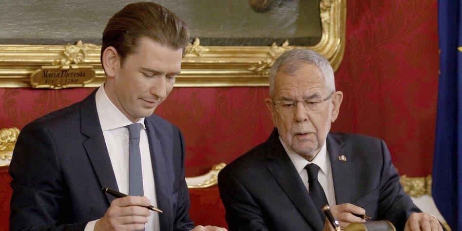 Kurz wurde zu Küken Isabelle: Untertitel-Fail des ORF bei Regierungsangelobung