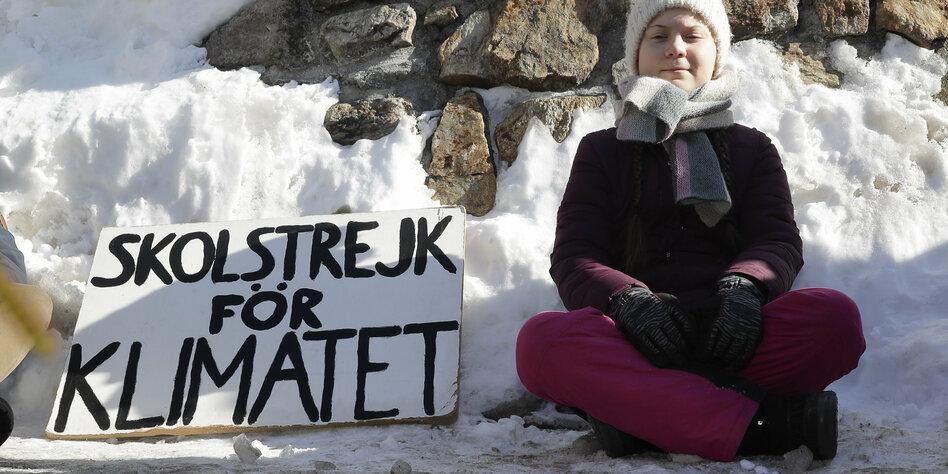 Klima-Protest in Davos