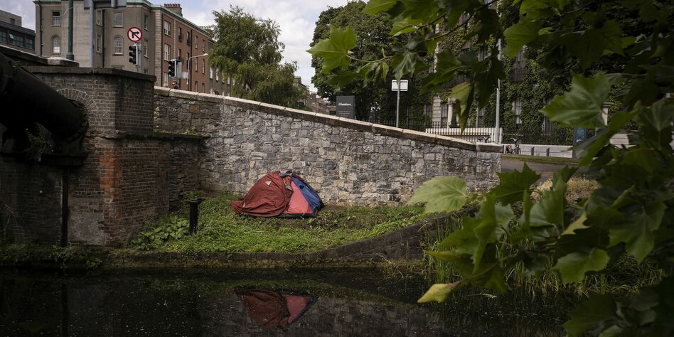 Obdachlose am Grand Cala in Dublin
