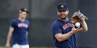 Baseball-Profi Altuve beim Training