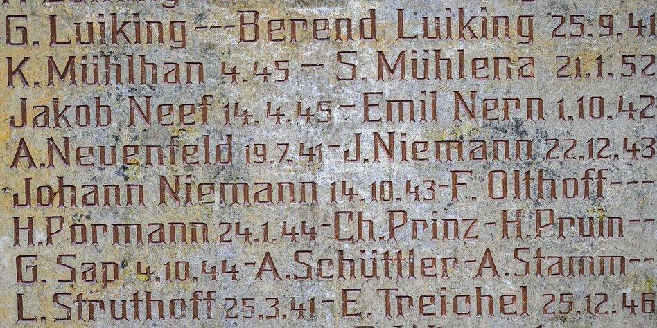 Kriegerdenkmal in Völlen: Der SS-Scherge aus Ostfriesland