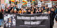 22.02.2020, Hessen, Hanau, Demonstration
