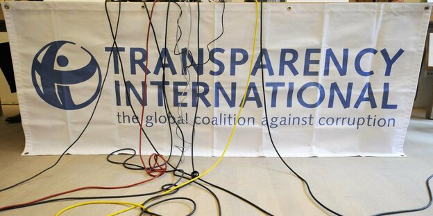 Banner von Transparency International
