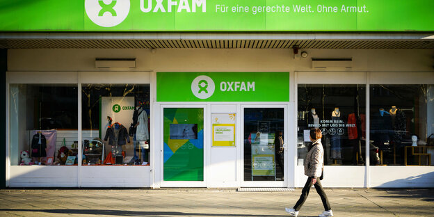 Oxfamladen in Berlin.