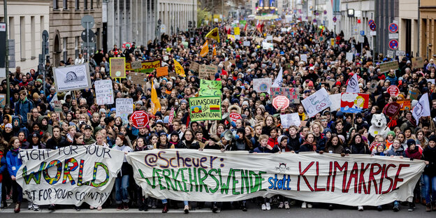 Demonstrationszug von Fridays for Future