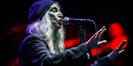 US-Sängerin und Songwriterin Patti Smith 2019 beim Musikfestival in Paredes de Coura/Portugal