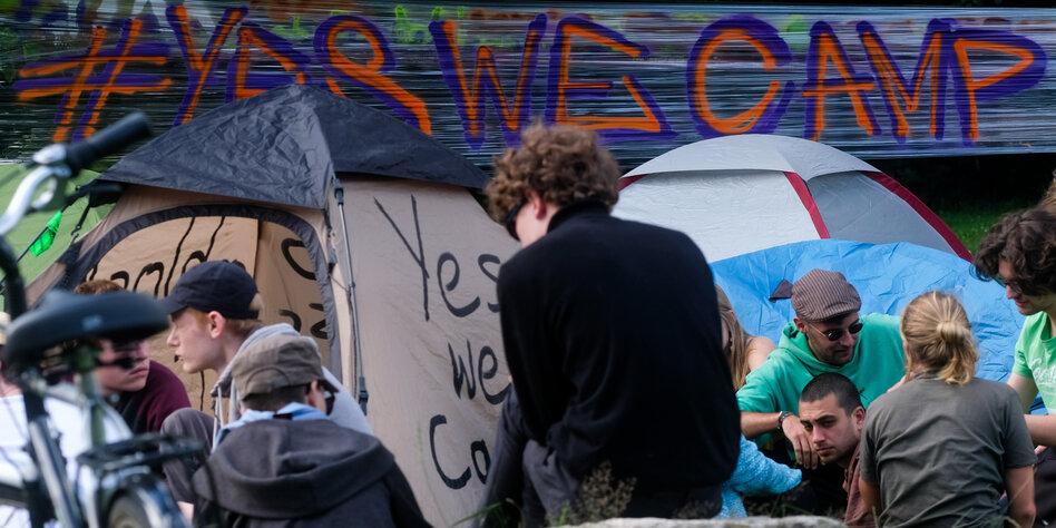 Rechtsstreit um Campen beim G20-Gipfel: Der Gipfel des Zeltens