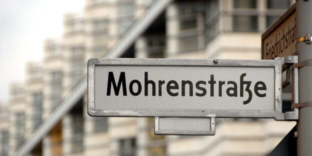 Auch ein Fall von Alltagsrassismus: Straßenschild in Berlin
