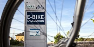 E-Bike Ladestation.