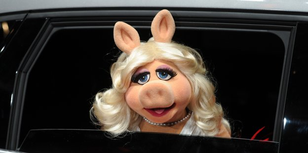 Miss Piggy in Limousine