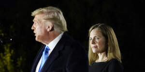 Amy Coney Barrett und Donald Trumpp