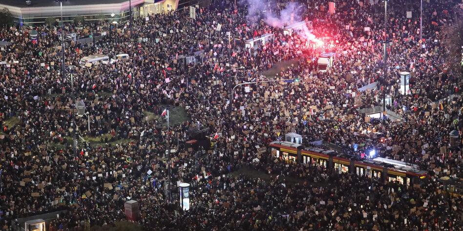 Massenproteste in Polen