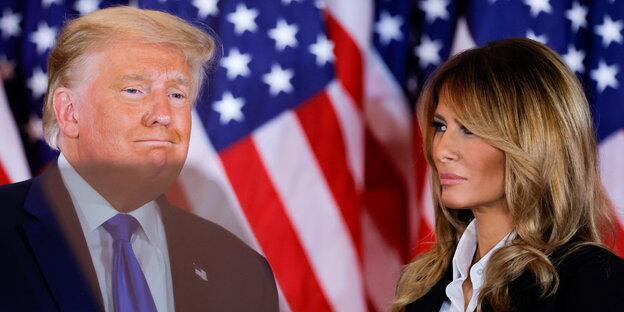 US-Präsident Donald Trump mit Ehefrau Melania Trump