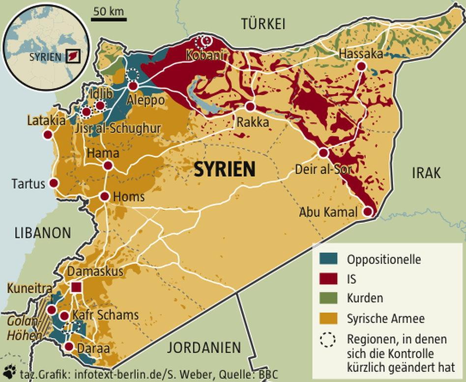 Syrien Karte Krieg.Krieg In Syrien Ein Horrorszenario Für Assad Taz De